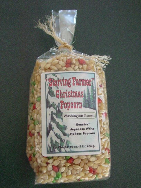 6 - 1 pound bags of Christmas Japanese Hulless Popcorn